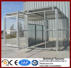 China La puerta con las plumas grandes galvanizadas de la prenda impermeable del metal de las jaulas del animal para el perro fuerte montado modular de los animales domésticos grandes corre perreras on sale