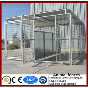 China Ворота с гальванизированными ручками большого металла клеток животного водоустойчивыми для собаки больших любимцев модульной собранной сильной бегут конуры on sale