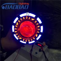 LED13 motorcycle led projector lens,non-fan version with X-case, Honda, Yamaha, Toyota colorful angel eye,red blue devil