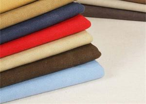 China Garment Washed Canvas Fabric / Heavy Cotton Fabric Tear - Resistant on sale