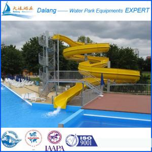 China Large Swimming Pool Water Slide With Open Slide on sale