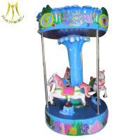 Hansel portable carnival rides fiber glass children carousel horse rides for sale