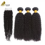 Brazilian Human Hair Weft Extensions Original Raw Kinky Curly Style 8a Grade