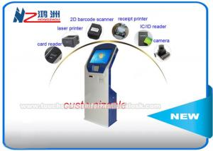 China Multi Touch Screen Self Service Kiosk For Advertising / Hospital Self Registration on sale