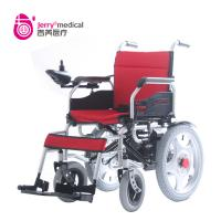 OEM ODM Indoor Compact Folding Wheelchair Electric Powered With Silver Frame