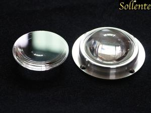 China Waterproof Plano Convex LED Glass Lens 90 Degree 67 MM For Flood Light on sale
