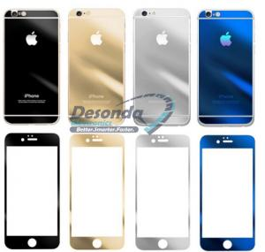 Quality Mirror Colored Tempered Glass Full Cover For Iphone 6 Plus Front Back for sale ...
