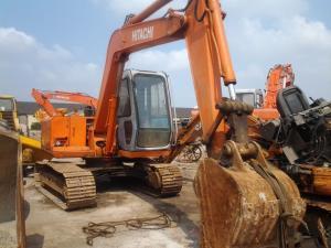 China used mini excavator hitachi ex60-1 japan mini crawler excavator  crawler moving on sale