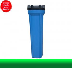China Water Filter Housing 20 Inch Blue Plastic Water Filter Housing In Water Treatment on sale