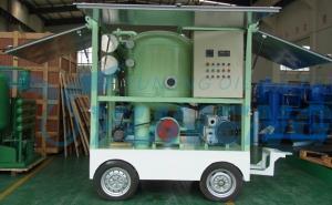 China Máquina móvil de la filtración del aceite del transformador con el remolque on sale