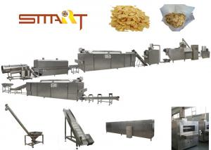 China Stainless Steel Corn Flakes Manufacturing Machine Automatic Cereal Making Machine supplier