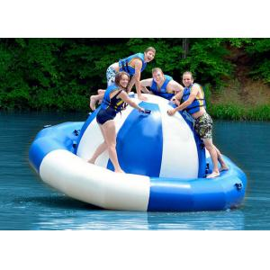 China Water Park Inflatable Saturn Rocker , Attractive Blue Inflatable Water Game Spinner on sale