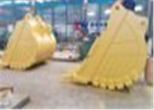 China HARDOX500 Material Excavator Rock Bucket With Large Stowing Surface on sale