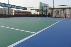 China Green Color Outdoor Multi Sport Court For Basketball Games / Badminton on sale
