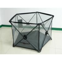 China Outdoor Safe Kids Playpen Fence For Summer With Double Locks , Black on sale