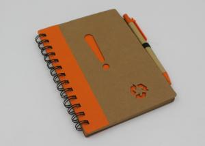 China Promotional School Recycled Paper Notebook With Ball Pen 70 Sheets on sale
