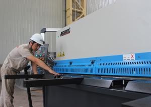 China Horizontal Hydraulic Metal Cutter CNC Shearing Machine Siemens Motor MS7-8x4000 on sale