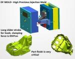 Bâti en plastique injection de pièces de rechange faites sur commande professionnelles d'usine, moule en plastique