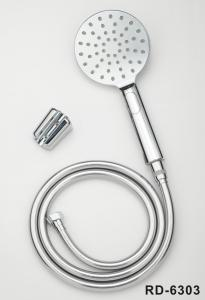 Quality Full Chrome 3 Function ABS Round Handle Shower Set for sale
