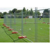 Crowd Control Portable Temporary Fence 50*50mm Hole For Construction Sites