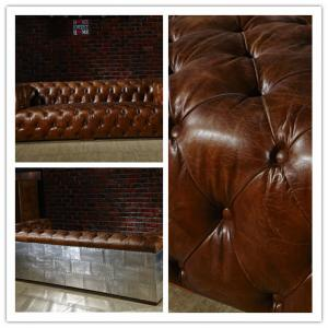 Swell Luguxry Vintage Brown Genuine Leather Couches Sofa Set With Squirreltailoven Fun Painted Chair Ideas Images Squirreltailovenorg