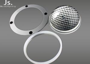 China 80deg Anti - Glare Symmetrical Optical Glass Lens For 50-200w Cob High Bay Lamp on sale