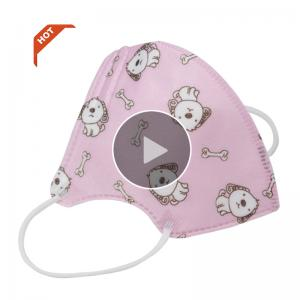China Kid Wearing Medical Mask Disposable N95 Shield  With Breather Valve on sale