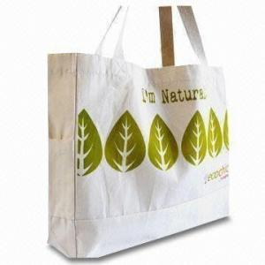 China CPSIA Handled Organic Cotton Bag , Woven Labels Cotton Bags on sale
