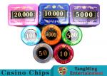 730 Pcs Crystal Screen Style Roulette Chip Set / Poker Game Set In Aluminum Case