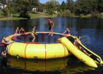 combinado inflável do trampolim da água de encerado do PVC de 0.9mm usado no lago