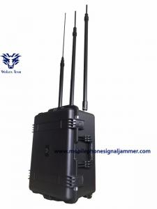 China Pelican Suitcase High Power RF Frequencies GSM 3G 4G Uav Jammer on sale