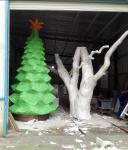 customize size fiberglass green large christmas tree  as decoration statue in garden /shop mall/ supermarket