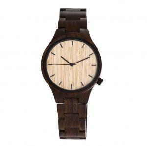 China Custom Maple Wooden Quartz Watch 0-3 ATM Waterproof 12 Month Guarantee on sale