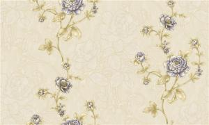 China Fashion Deep Embossed Wallpaper , Bedroom Damask Wallpaper For Decoration on sale
