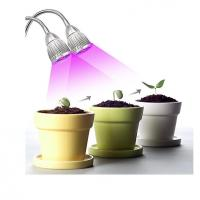 China LED Plant Grow Light 10W Dual Head 360 Flexible Adjustable Gooseneck for Indoor Plants, Greenhouse, Hyd on sale