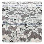 Cotton Nylon Cord Lace Fabric floral flower pattern for garmen wholesale