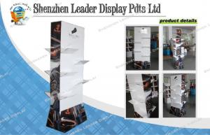 China 4C Boots Cardboard Floor Display Stands For Chain Store Promotion on sale