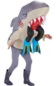 China Outdoor Parade Funny Adult Costumes , Man Eating Shark Halloween Inflatable Costumes on sale