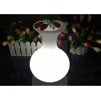 Rechargeable Lighting Vase LED Flower Pots For Table Service , 16 Colors Changing