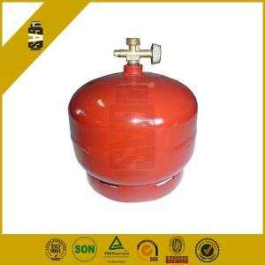 China Household Mini Lpg Gas Bottles 2kg with SG295 / Butane Gas Canister on sale