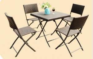 China Leisure Wicker Rattan Chairs with Aluminum Frame , Folding Dining Room Chairs on sale