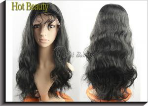 China Virgin Human Hair Full Head Lace Wigs With Baby Hair , Natural Hairline Human Lace Wigs on sale