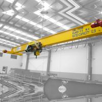 China 10t Railway / Workshop Overhead Crane Remote Control With European Electric Hoist on sale
