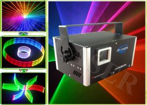 China Nightclub Music Beat RGB Multi Color 1500 MW 3D Laser Projector Disco Lighting System on sale