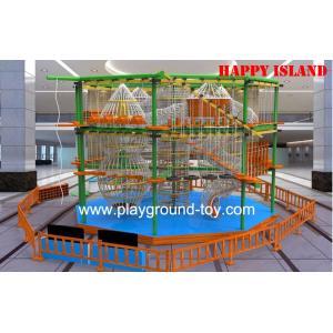 China Plastic Wood  Adventure Playground Equipment For Gardens Children Trainning on sale