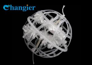 China Fiber Active Filler Packing Plastic Porous Suspended Cage Bio Ball on sale