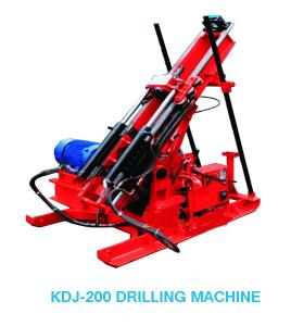 China KDJ-200 Hydraulic Cylinder Trunnel Drilling Rig In Treatment Disaster on sale