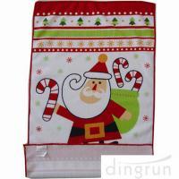 Custom Printed Microfiber Kitchen Towels Christmas Design Low Cadmium
