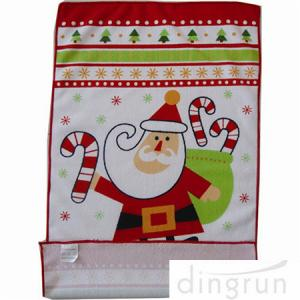 China Custom Printed Microfiber Kitchen Towels Christmas Design Low Cadmium on sale