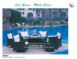 Adrien flat wicker adjustable DINING SET for Hotel, Garden and Beach by Clover Lifestyle Outdoor Furniture China